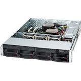 Supermicro CSE-825TQC-R740LPB SuperChassis Server Case - Rack-mountable - Black - 2U