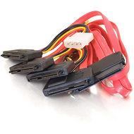 C2G 10245 1m SAS 32-pin to 4 SAS 29-pin + 4-pin Power Cable
