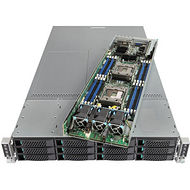 Intel MCB2224TAF3 2U Rack Server - 8 x Xeon E5-2650 v4 12 Core 2.20 GHz - 1 TB Installed DDR4 SDRAM