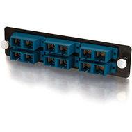 C2G 31105 Q-Series 12-Strand, SC Duplex, PB Insert, MM/SM, Blue SC Adapter Panel