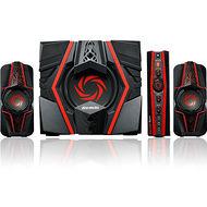 AVerMedia GS315 2.1 Speaker System - 77 W RMS - Black, Red