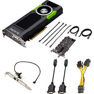 PNY VCQP5000SYNC-PB Quadro P5000 Graphic Card 16 GB GDDR5 Sync II Turnkey Kit