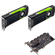 PNY VCQP6000SYNC-2P6KIT Dual Quadro P6000 Graphic Card - 48 GB GDDR5X + Quadro Sync II Turnkey Kit