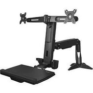 StarTech ARMSTSCP2 Sit Stand Dual Monitor Arm - For Two Monitors up to 24in - Height Adjustable