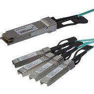 StarTech QSFP4X10AO15 15m 49 ft Cisco QSFP-4X10G-AOC10M Compatible - QSFP+ to 4 SFP+ Breakout Cable