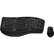 Adesso WKB-1500GB Tru-Form Media 1500 - Wireless Ergonomic Keyboard & Laser Mouse