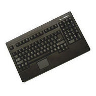 Adesso ACK-730PB IPC Keyboard - Touchpad - PS/2 - Black