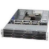 Supermicro CSE-825TQC-R1K03WB SuperChassis Server Case - Rack-mountable - Black - 2U