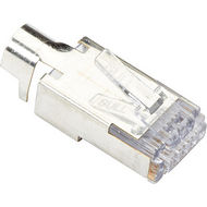 Black Box C6EZSP-STAG-100PAK ezEX CAT6 44 Shielded Connector External Ground 100 Pack