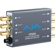 AJA 12GDA-R0 1x6 12G HD/SD SDI Reclocking Distribution Amplifier, 120M 12G cable equalization