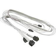 Supermicro CBL-SAST-0556 Internal MiniSAS HD to 4 SATA with Sideband 90/90/75/75/75cm Cable