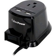 CyberPower CSP105U Dual Power Station 1-Outlet with 2-2.1A USB Charging Ports and 5FT Cord