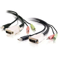 C2G 14180 10FT DVI DUAL LINK + USB 2.0 KVM CABLE WITH SPEAKER AND MIC