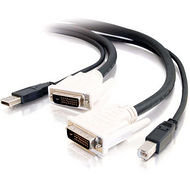 C2G 14178 10FT DVI™ DUAL LINK + USB 2.0 KVM CABLE