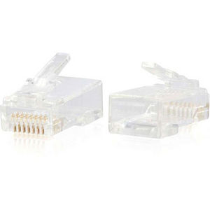 C2G 00889 RJ45 CAT6 MODULAR PLUG FOR ROUND SOLID/STRANDED CABLE MULTIPACK (50 PACK)
