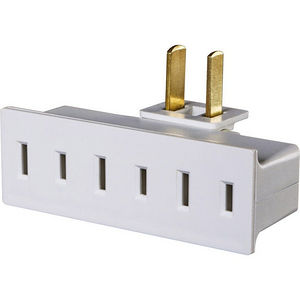 CyberPower GT300P Pivoting Wall Tap Swivel Plug Turns 1 Outlet Into 3