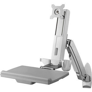 StarTech WALLSTS1 Wall Mounted Sit Stand Desk - For Single Monitor up to 24in - Height Adjustable