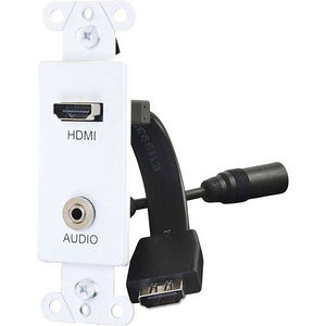 C2G 39872 HDMI AND 3.5MM AUDIO PASS THROUGH DECORATIVE WALL PLATE - WHITE