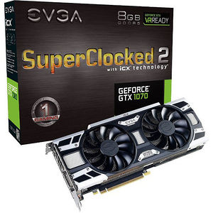 EVGA 08G-P4-6573-KR GeForce GTX 1070 Graphic Card - 1.59 GHz Core - 8 GB GDDR5 - Dual Slot