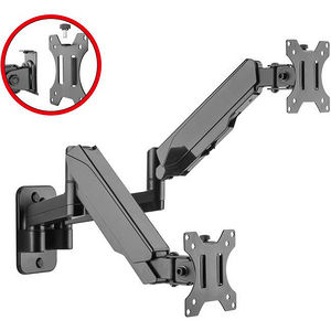 SIIG CE-MT2M12-S1 PREMIUM ALUMINUM GAS SPRING WALL MOUNT - DUAL MONITOR