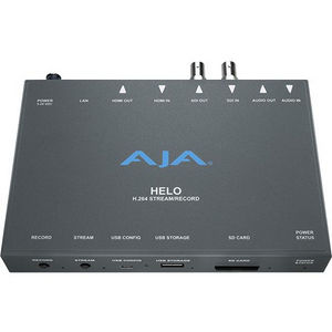 AJA HELO H.264 HD/SD Recorder and Streamer