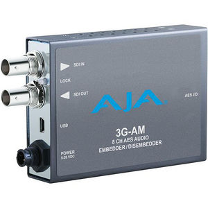 AJA 3G-AM-BNC 3G-SDI 8-Ch AES Embedder/Disembedder, bal. BNC, USB Mini-Config support