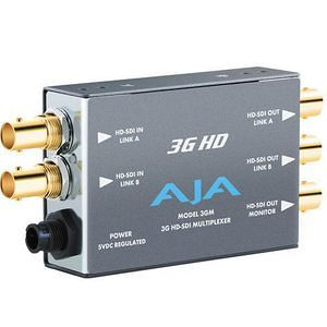AJA 3GM 3G/1.5G HD/SD SDI Bidirectional Multiplexer, SD/HD Audio/Video