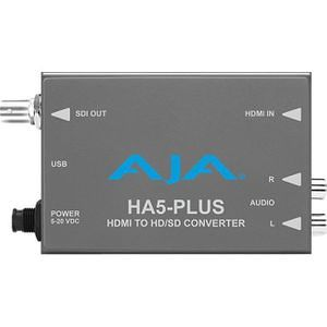 Supports 8 Ch of HDMI Embedded Audio AJA HA5-Plus HDMI to 3G-SDI Mini-Converter