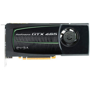 EVGA 01G-P3-1465-TR GEFORCE GTX 465, 1024MB GDDR5, PCI-E 2.0, 102.6 GB/SEC, 3206 MHZ