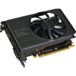 EVGA 02G-P4-3751-KR NVIDIA GEFORCE GTX 750TI, PCI-E 3.0, 2GB DDR5, 5400 MHZ EFFECTIVE CLOCK, 128BIT