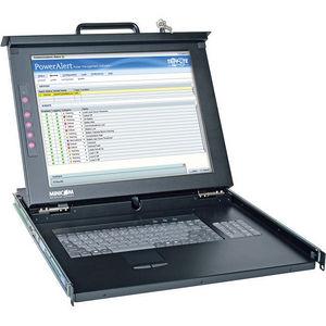 Tripp Lite 0SU52088 Minicom Rack Console PS2 USB with 17in LCD / Keyboard / Touch Pad 1URM
