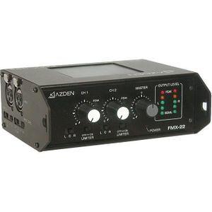Azden FMX-22 Professional Portable Mixer with Two XLR Inputs