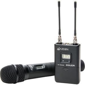 Azden 310HT UHF Wireless Mic System with Handheld Mic Transmitter