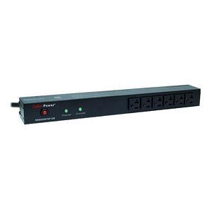 CyberPower RKBS20ST6F12R Rackbar Surge Suppressor RM 1U 20A 18-Outlet