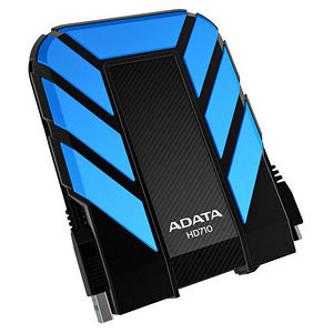"ADATA AHD710-1TU3-CBL DashDrive HD710 1 TB Hard Drive - 2.5"" External - SATA - Blue"